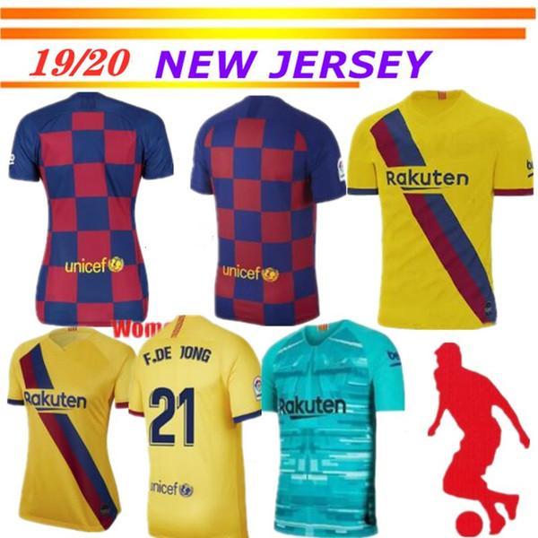 19 20 Camisetas de fútbol Barcelona 10 Messi # 17 GRIEZMANN SUAREZ camisa de futebol Dembele A. INIESTA UMTITI 2019 2020 Camiseta de fútbol para hombre