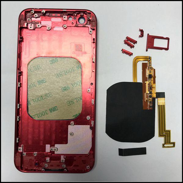 Sizin iPhone 6G 6S 6P 6SP 7 7P Yapmak gibi iPhone 8 Cam Dahili Konut Kablosuz Şarj Flex ile Konut