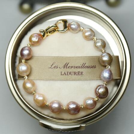 2019 collier de perles de couleurs différentes Edison chaîne de chandail de collier de perles baroques naturelles d'eau douce pour femme cadeau