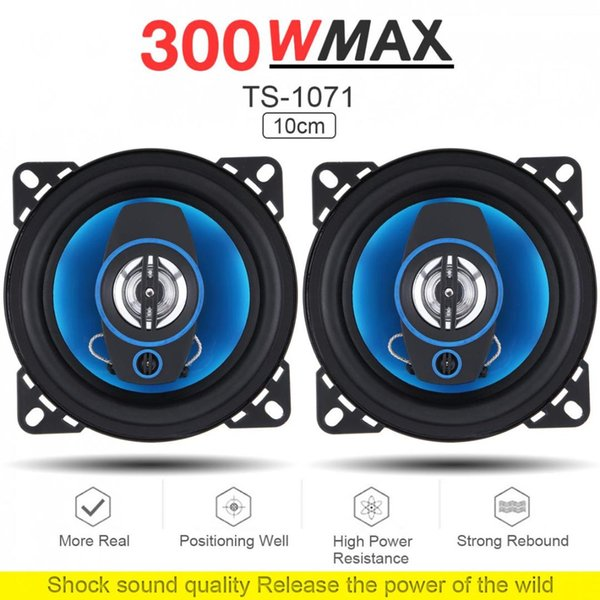 2pcs Durable 4 Inch 2Way 300W Car Speaker Automobile Car HiFi Audio Full Range Frequency Coaxial Speaker High Pitch Loudspeaker