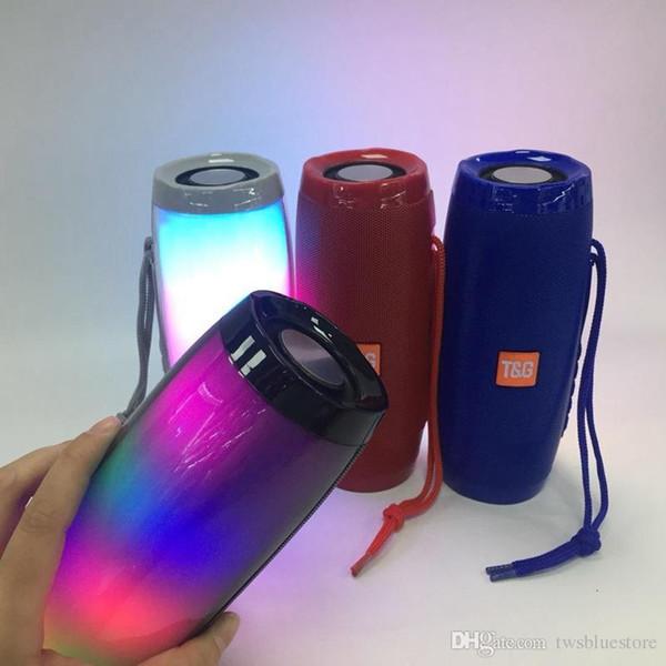 TG157 Altavoz Bluetooth inalámbrico Lámpara de luz LED Flash Caja de auge portátil Caja de sonido de subwooffer para columna de graves al aire libre con soporte de micrófono TF FM USB