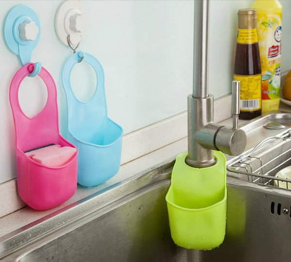 Creative Silicone Sponge Storage Rack Basket 19*8.5CM Wash Cloth Toilet Soap Shelf Organizer Bathroom Kitchen Gadget