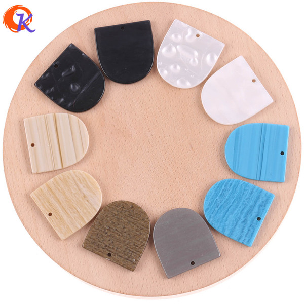 venta al por mayor 29 * 31mm 50Pcs Resina Beads / Accesorios de joyería / Hecho a mano / Marble Effect Beads / Geometry Shape Bead / Pendientes de aretes