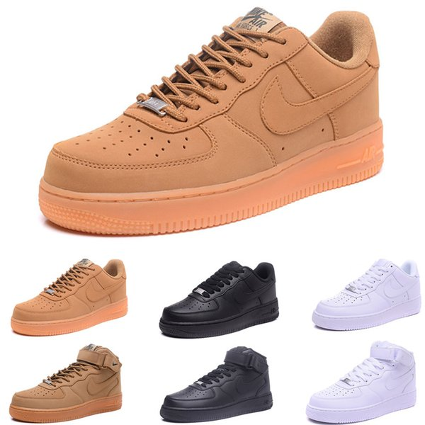 New Arrival One 1 Dunk Running Shoes all Black White Men Women Sports Skateboarding Ones High Low Cut Wheat Brown Trainers Sneakers 36-45 IY