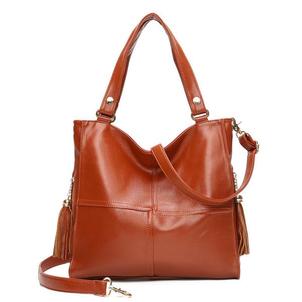 Brand Sale Bag Women's Genuine Leather Handbag Big Designer Ladies Tote Crossbody Bags For Women Sac A Main Femme