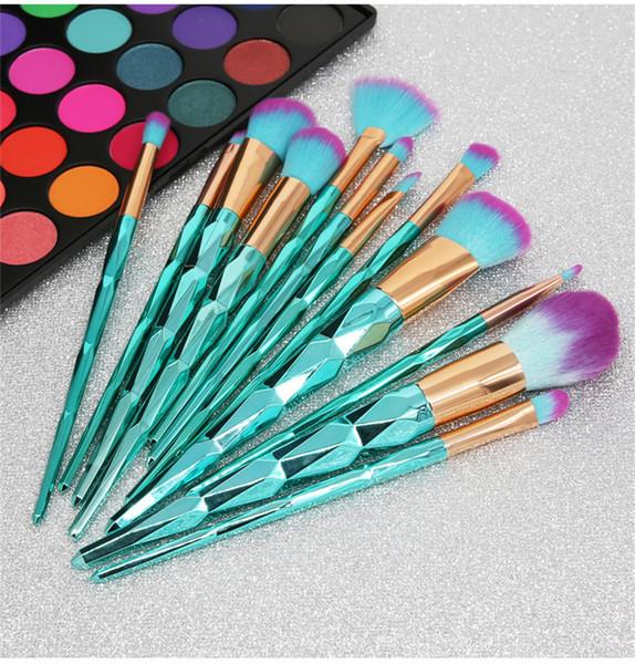 Azul 12 unids Juego de Cepillos Crema Poder Pinceles de Maquillaje Profesional Belleza Multiusos Cosméticos Puff Batch Brushes con opp bag mejor calidad