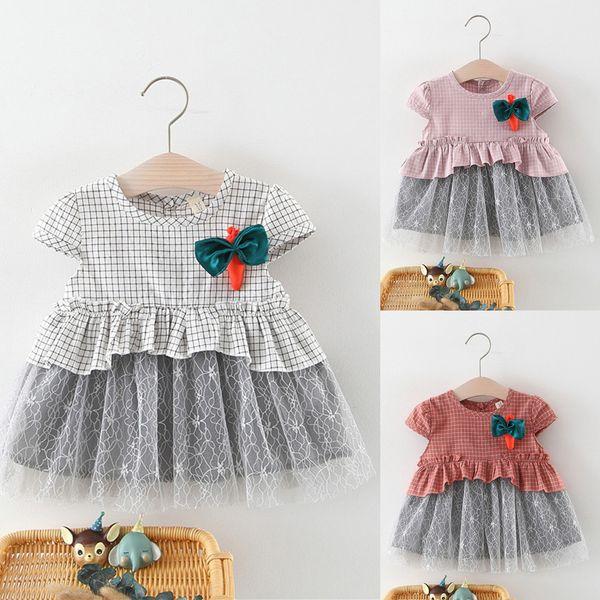 Toddler Bebek Kız Dantelli Patchwork Tül Etek Havuç Parti Prenses Elbiseler 2019 YENI Drop Shipping