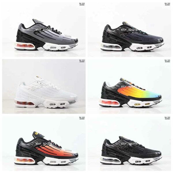 Scarpe Estive 2019 Nike Air Max Plus Tn Plus III 3 TN Mens Desig TUNED Airs Scarpe Da Corsa Classic Outdoor Tn Nero Bianco Sport Shock Sneakers Uomo