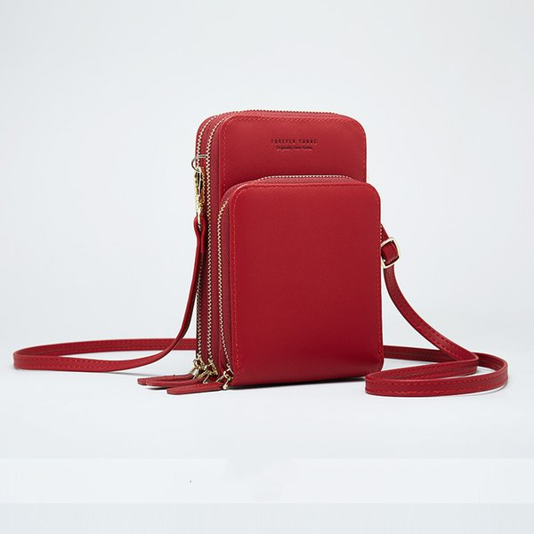 Women Soft Leather Phone Bags Girls Crossbody Bag High Capacity Wallets Purse Cards Holders Casual Shoulder Bag Handbags DK12