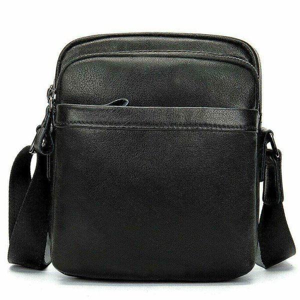 New Outdoor Single Shoulder Men's Leather Bag Leisure Head Cowhide Bag Vertical Men's Slant Man Messenger
