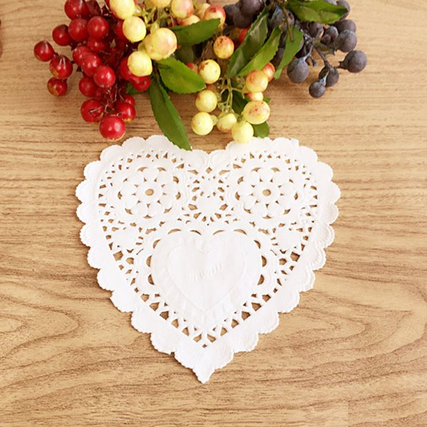 1000 pcs 5.5inch 14cm Eco-Friendly White Paper Doilies Cake Doily For Party Wedding Christmas Table Decorative Cake Holder