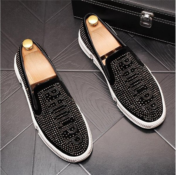 New men's sets of feet shoes personalized tide men's shoes a pedal lazy shoes breathable youth loafers