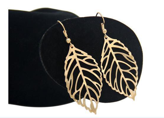 boucles d'oreilles sexy pendantes et épingles de chandelier broches alliage styles bohème feuilles boucles d'oreilles