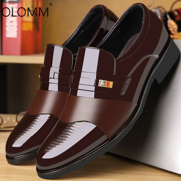 Large Size British Mens Business Dress Shoes Mens Fashion Wedding Shoes Zapatos De Hombre Men Dress Leather