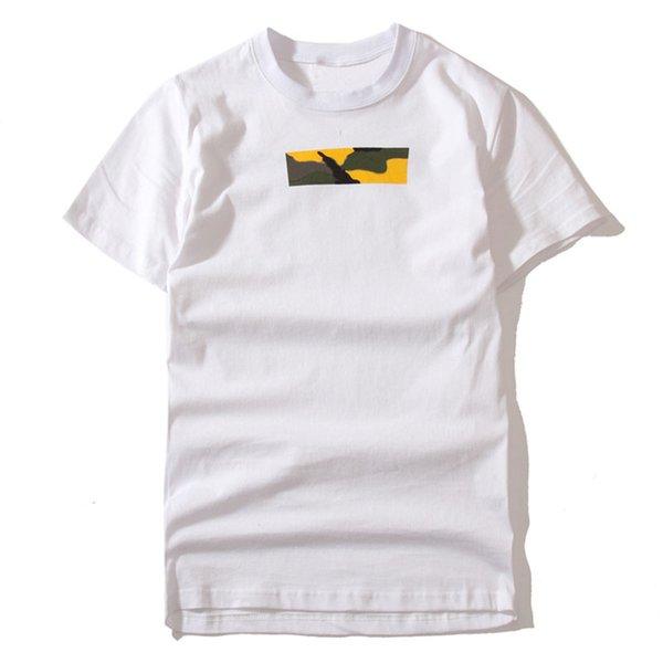 17AW Brooklyn insignia de la caja camiseta blanca de manga corta de color limitada camuflaje camiseta de los hombres mujeres pareja de moda monopatín tee HFLSTX024
