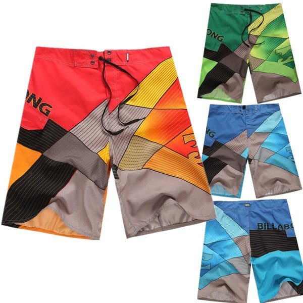 Hot 3 Colors New Men's Quick-Dry Speed ​​Dry Swim Pantalones de playa Boardshorts Pantalones cortos de surf Troncos de tabla Tamaño 30-38 S1