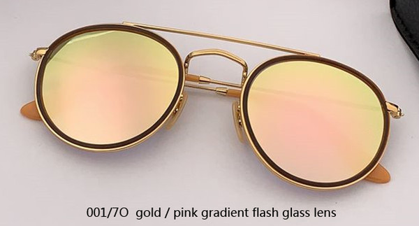 001/7O gold/pink flash lens