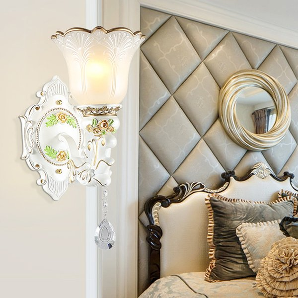 2019 Resin Wall Lamps Living Room Bedside Lamp Hotel Club Indoor Light  Crystal Wall Light Bedroom European Luxury Wall Lamp Bathroom Mirror Light  From ...