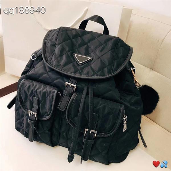 P designer backpack luxury brand backpacks famous fashion high quality Nylon vintage style school bagpack 2019 fashion