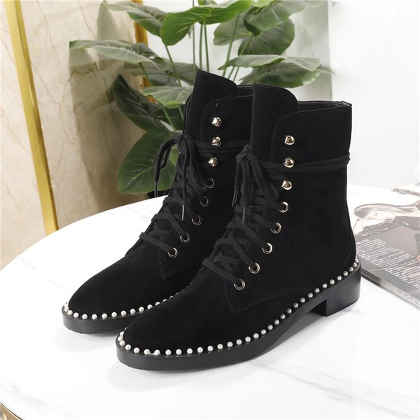 2019 new Luxury Women Shoes Fashion Luxury Designer Women Shoes famous Ankle Boots Womens half Boots Women Dress Shoes size 34-41