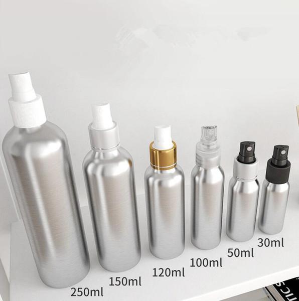 top popular Spray Perfume Bottle Travel Refillable Empty Cosmetic Container Perfume Bottle Atomizer Portable Aluminum Bottles Car Freshener GGA1921 2020