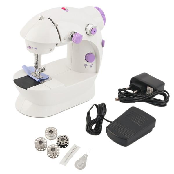 Mini Handheld sewing machines Dual Speed Double Thread Multifunction EU Electric Mini Automatic Tread Rewind Sewing Machine