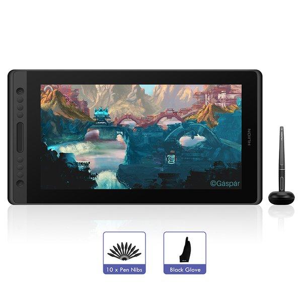 OMPUTER Office Huion Kamvas Pro 16 Draiting Pen Tablet Monitor Digital Graphic Tablet Pen Display Monitor 15,6 дюйма с батареей ST ...