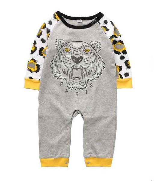 top popular Spring Summer Baby Boys Girls Rompers Designer Kids Long Sleeve Cotton Jumpsuits Infant Girls Boy Clothing 2020