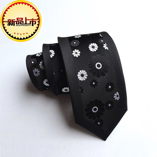 Manufacturers custom wholesale and retail new personality fashion tie polyester silk jacquard 6cm tie