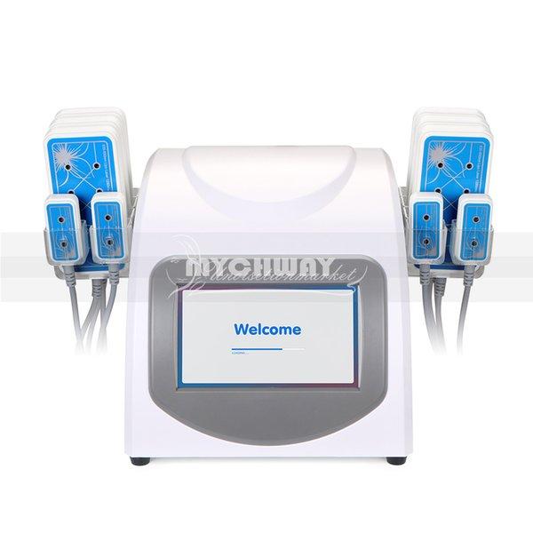 635nm-650nm Anti-cellulite LED Laser LLLT Lipolyse 10 Pads Abnehmen Gewicht Fett Verlust Schönheit Maschine Für Den Heimgebrauch