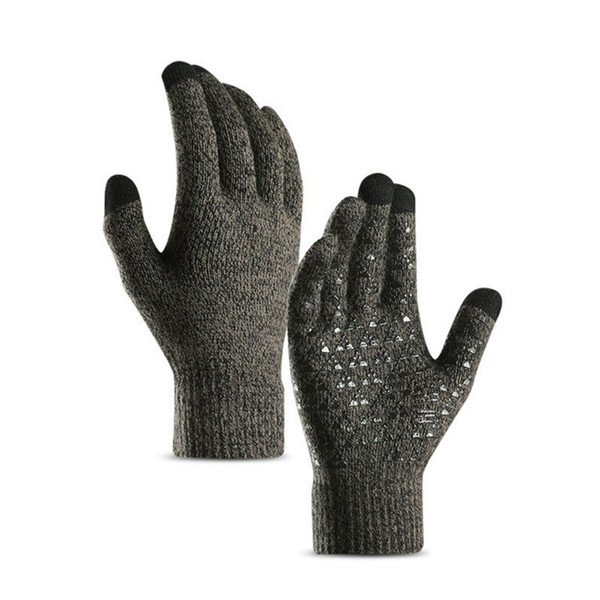 2pcs Full Finger Cycling Gloves Winter Knitted Fluffy Touch Screen Anti Slip Protective Handwear Fitness Riding Gloves New