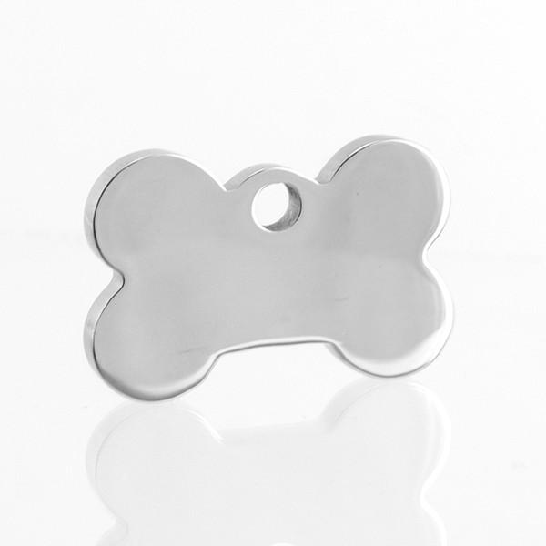 Épaisseur 3mm / 4mm Étiquettes pour animaux de compagnie Forte Chien Os Charme ID Étiquette de Chien En Acier Inoxydable DIY Vierge Miroir Polonais Pendentifs