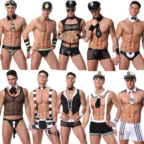 Hot Sexy Camouflage Cosplay Costumes Professional Outfit Halloween Sold Uniforms Men Performance Erotic underwear Trends Style Clothing