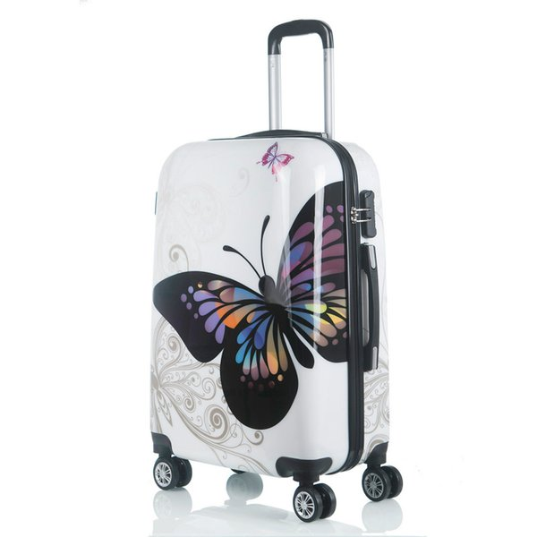 Rolling Luggage Spinner Cartoon Password Suitcase Wheels 20/24 Inch Women Carry on Trolley Travel Bag Luggage Suitcase LGX11