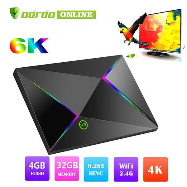 Android 9.0 TV Box M9S Z8 4GB 64GB 32GB Smart Set top box H6 H.265 4K Google Player Store Netflix media player M9S PK S905X2 RK3328 S905W