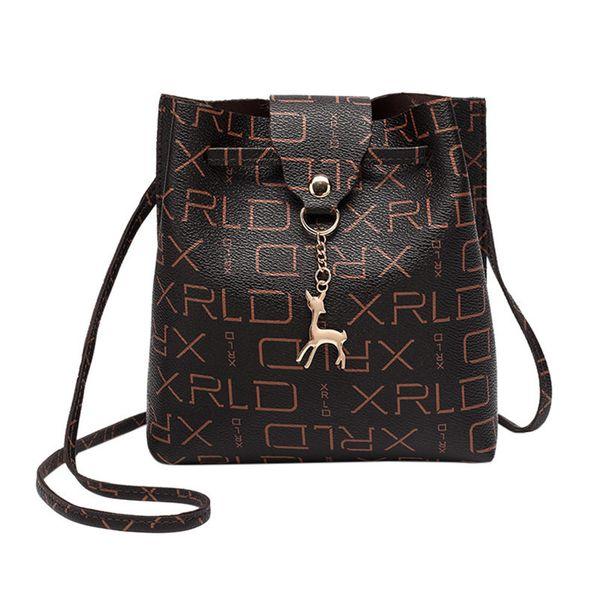 Cheap Fashion 2019 Women Messenger Bags Fashion Women's Vintage Small Deer Pendant Leather Ladies Shoulder Bag Bolsa Feminina Gift C