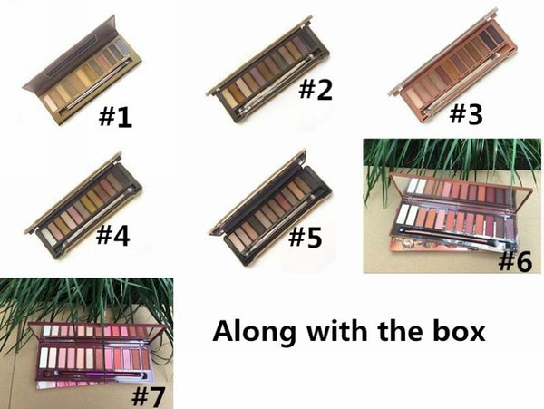 top popular Factory Direct DHL Free Shipping New Makeup Eyes Hot Brand Nude NO:1 2 3 4 5  Cherry Heat Palette 12 Colors Eyeshadow! 2020