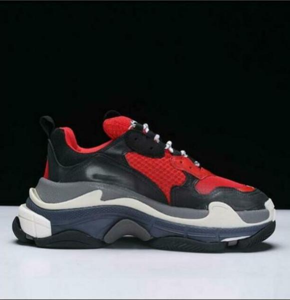 2019 konfor sneakers çevrimiçi güverte 2018 Üçlü-S Tasarımcı Lüks Ayakkabı Düşük Üst Sneakers erkek ve kadın Rahat Ayakkabılar Spor Eğitmenler 36-45