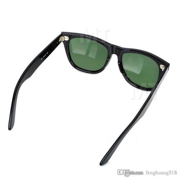 High Quality Plank black Sunglasses glass Lens Black Frame Green Lens Plank Sunglasses Brand Designer sun glasses Fashion Luxury Sunglasses