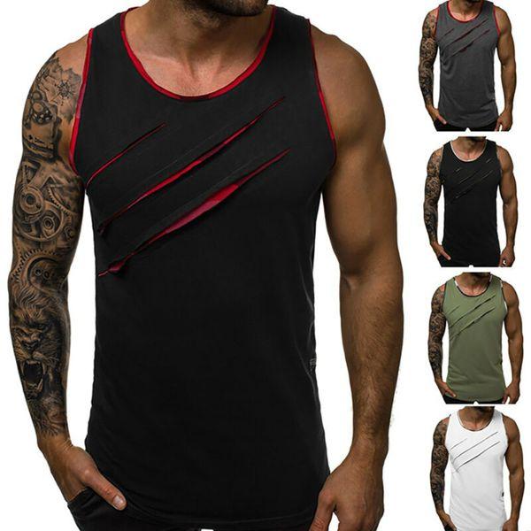 Mens Gym Sleeveless Tank Top Sport Muscle Bodybuilding Singlet Vest T Shirt Tee
