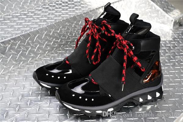 mens moda Botas top designer meninos altas da sapatilha do couro genuíno na sola de borracha confortáveis sapatos casuais Tamanho 38-45