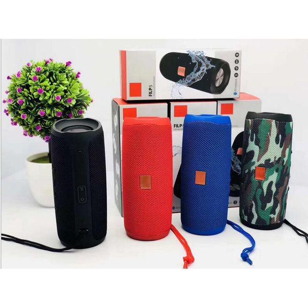 top popular Flip 5 Portable Wireless Bluetooth Speaker Flip5 Waterproof Subwoofer Mini Outdoor Bluetooth Speakers Hi-Fi Boxes Support TF card FM Radio 2019