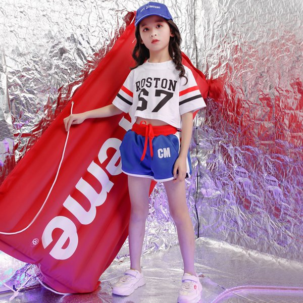 Kids Hip Hop Costumes for Girls Jazz Ballroom Dance Clothes Performance Dancewear Stage Dancing Costumes Suits Outfits
