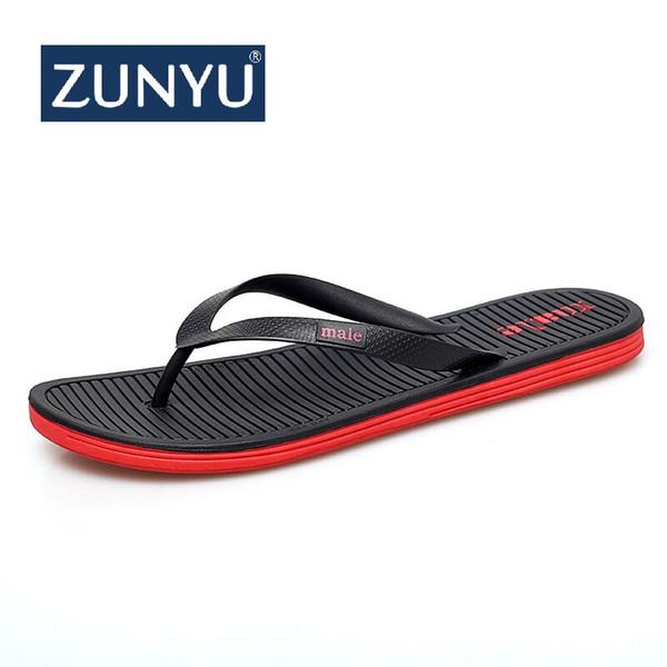 ZUNYU Neue Ankunft Große Größe Sommer Männer Flip-Flops Hohe Qualität Strand Sandalen rutschfeste Zapatos Hombre Freizeitschuhe Tropfen