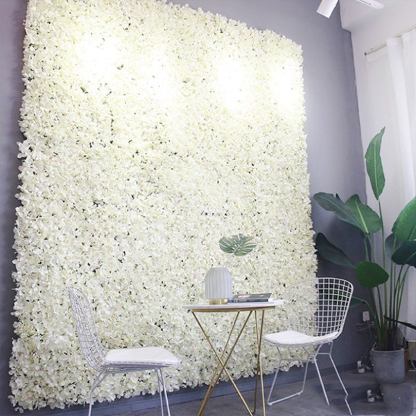 60X40cm Artificial Hydrangea Flower Wall Photography Props Home Backdrop Decoration DIY Wedding Arch Flowers Free Shipping 12pcs
