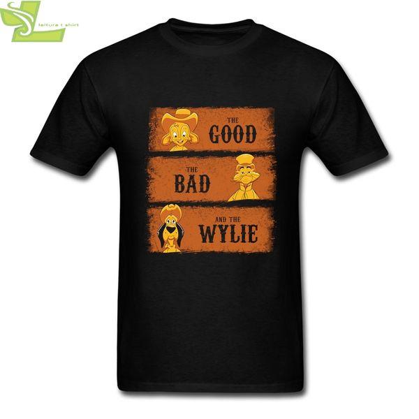 Хороший, Плохой и Уайли Винтаж Тис Человек шею с коротким рукавом рубашки Юмор Наступление футболки