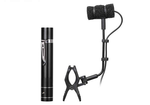 Professional flute Violin Saxophone microphone Power supply included musical instrument mic condenser microphone