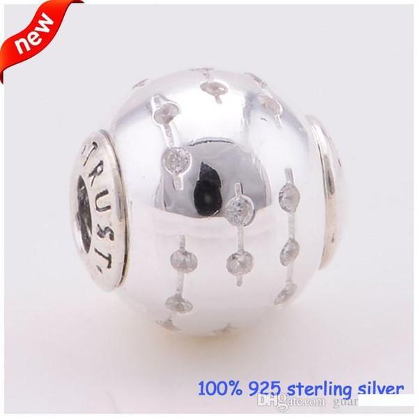 Fits Pandora Essenza Bracciali Fiducia Silver Beads Nuovo originale al 100% 925 fascini d'argento Gioielli fai da te all'ingrosso