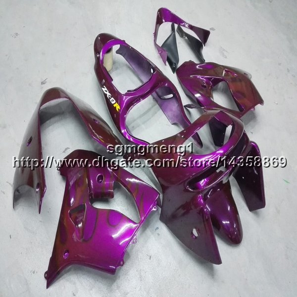 23colors+Botls purple motorcycle cowl for Kawasaki ZX9R 1998-1999 ABS Plastic Fairing