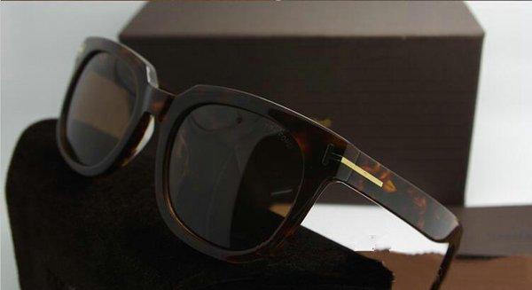 Gafas de sol de primera calidad de la nueva moda 211 Tom Gafas de sol para hombre, mujer Erika Gafas ford Diseñador Gafas de sol con caja original de FT